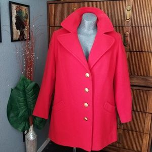 Vintage Pendelton Red Coat Size 13 -14